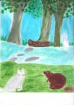 Mascotte rencontre le castor