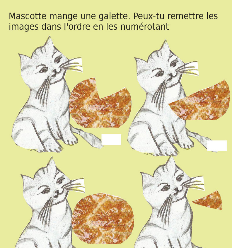 Mascotte mange une galette