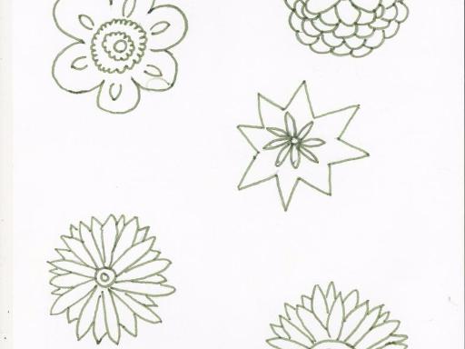 Les corolles de fleurs